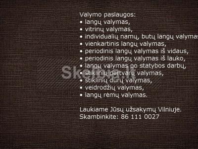 Langų valymas Vilniuje