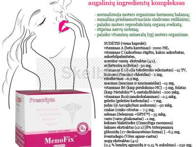Moterims - menopauzės metu natūralus kompleksas