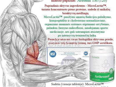 PIENO PROTEINAS - baltyminis SPORTININKŲ papildas Arthromil