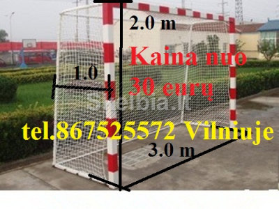 Tinklas MINI futbolo vartams 3x2x1m nuo 29 euro