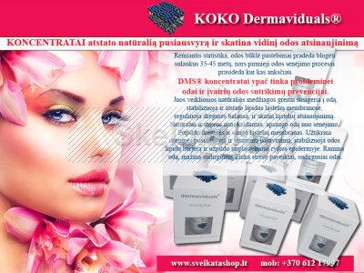 Dermaviduals KONCENTRATAI - skatina vidinį odos atsinaujinimą