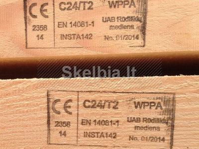 Statybinė konstrukcinė mediena iki 9, 0m ilgio