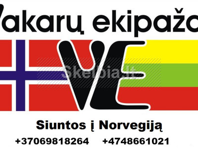 LIETUVA NORVEGIJA KELEIVIŲ VEŽIMAS 869818264