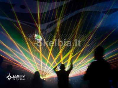 Lazerių šou, lazerinės projekcijos renginiams, šventėms
