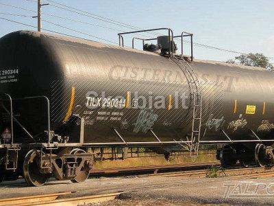 cisterna trąšoms, naudotas traukinio vagonas