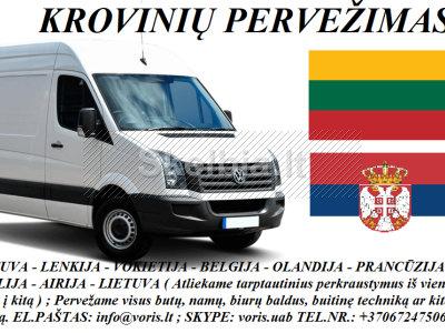 KROVINIŲ GABENIMAS į Serbiją, iš Serbijos
