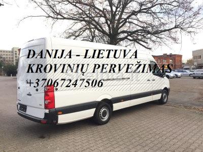 Tarptautiniai perkraustymai Lietuva - DANIJA - Lietuva. LT - DK - LT