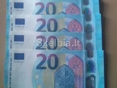 Pirkite eurus ir kitas sąskaitas