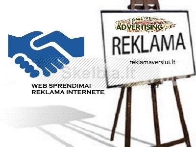 Skelbimų platinimas, reklama internete