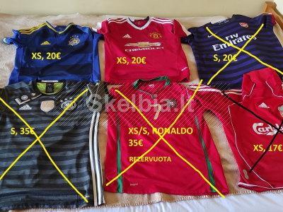 Nauji ir dėvėti originalūs futbolo marškinėliai