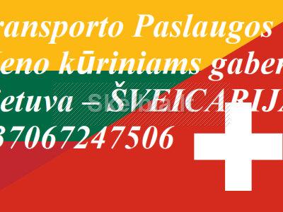 Eksponatų ir parodų įrangos pervežimas Lietuva Šveicarija