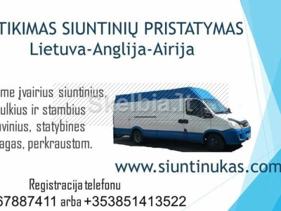 Siuntos Lietuva - Anglija - Airija - Lietuva