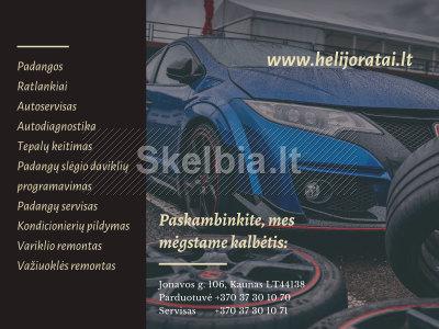 Helijoratai. lt padangos, ratlankiai, autoservisas Kaune kokybė Jūsų automobiliui