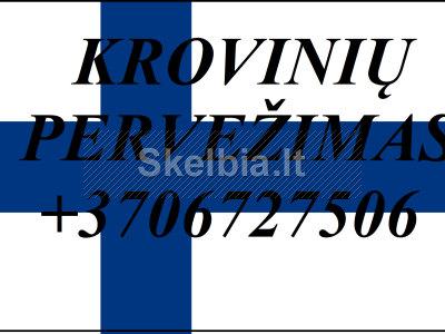 Įmonių ir gyventojų turto perkraustymas perkraustymo paslaugos Lietuva Suomija