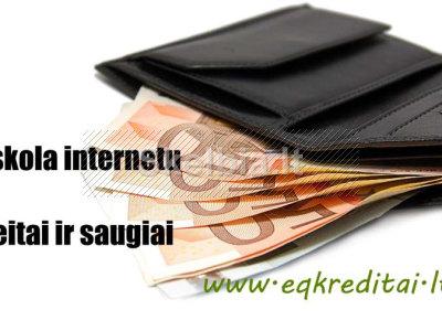 Kredito pasiūlymas internetu