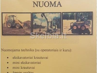 STATYBINĖS TECHNIKOS NUOMA, 8 - 659 - 07990, BOBCAT NUOMA